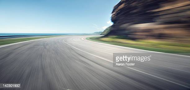 Ocean cliff road