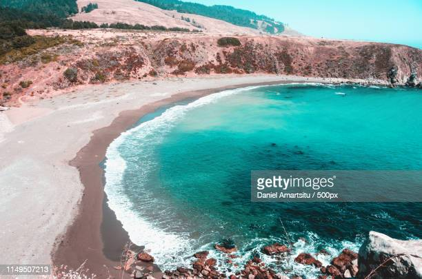 ocean cove - teal stock pictures, royalty-free photos & images