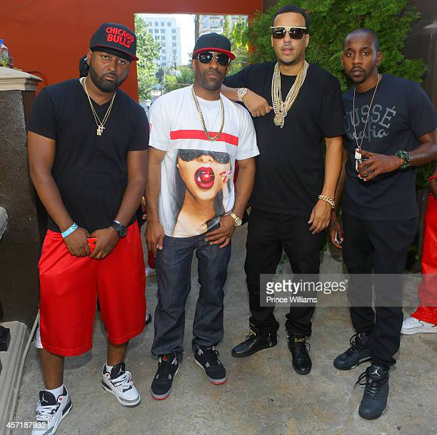 Ocean DJ Clue French Montana and Rugs attend at Opera Gardens on September 21 2014 in Atlanta Georgia