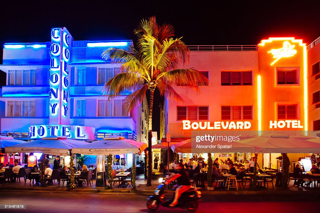Nightclubs On Ocean Drive In South Beach Miami