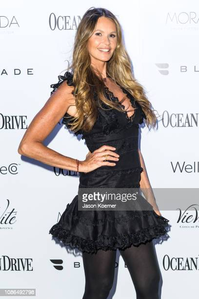 Ocean Drive celebrates its January issue with cover star Elle Macpherson at The Sacred Space Miami on January 22 2019 in Miami Florida