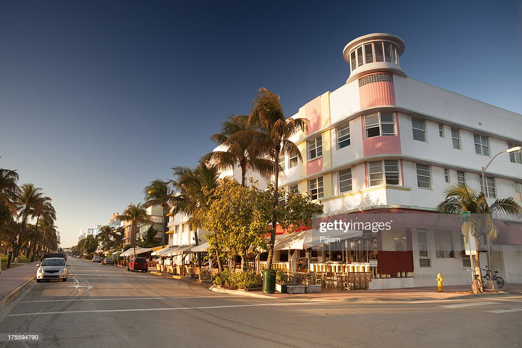 Ocean Drive in Miami : Stock Photo