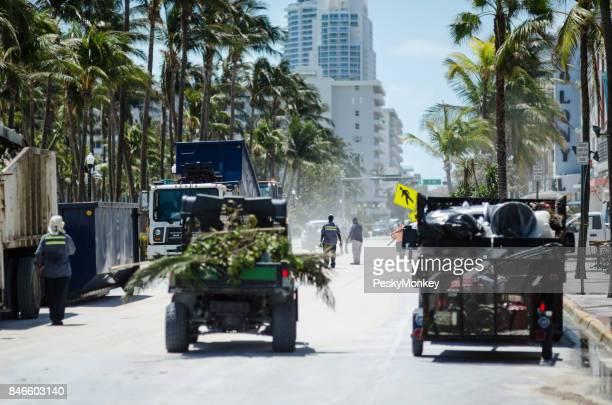 Ocean Drive Miami Beach Hurricane Cleanup
