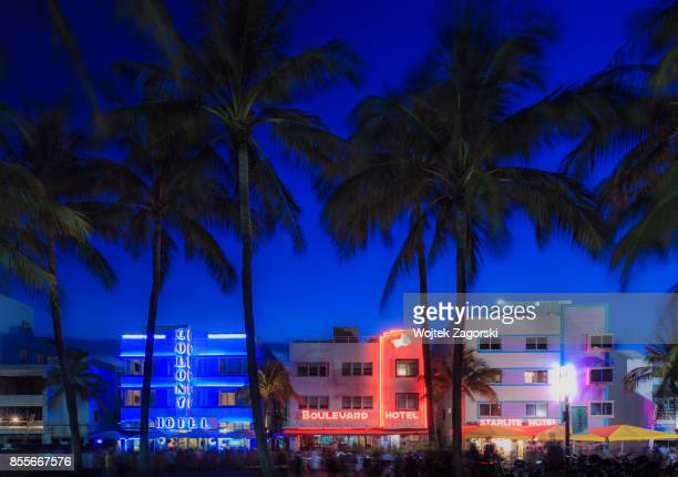 ocean drive - miami beach - miami stock pictures, royalty-free photos & images
