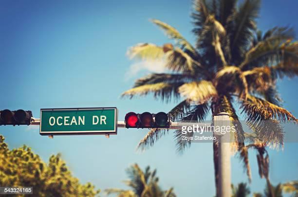 Ocean Drive road sign