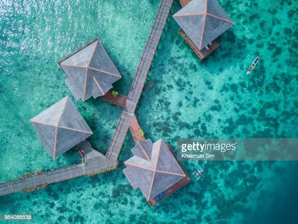 ocean from sky - malasia fotografías e imágenes de stock