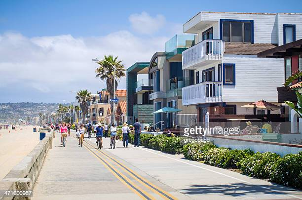 Ocean Front Walk at Mission Beach in San Diego, CA