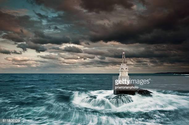 phare de l'océan - paysage marin photos et images de collection