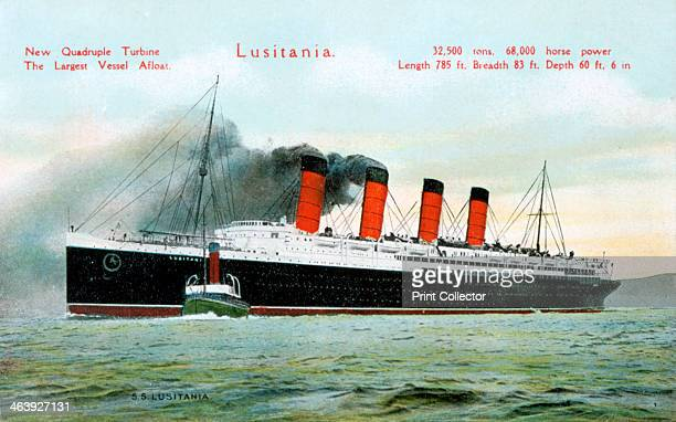 Ocean liner RMS 'Lusitania' 20th century Launched in 1906 the Lusitania was built for the Cunard Steamship Line by John Brown Co on the Clyde One of...