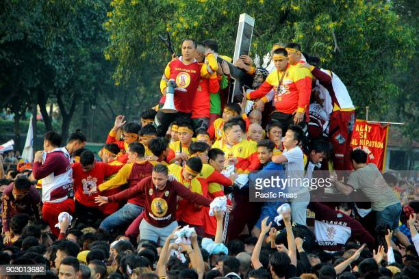 Ocean of devotees flooded at Rizal Park in Manila City that joined the Traslacion of the Black Nazarene statue during the Feast of Black Nazarene on...