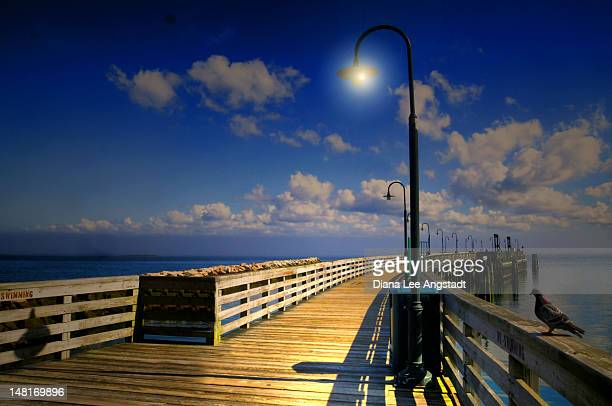 ocean pier - rye new york stockfoto's en -beelden