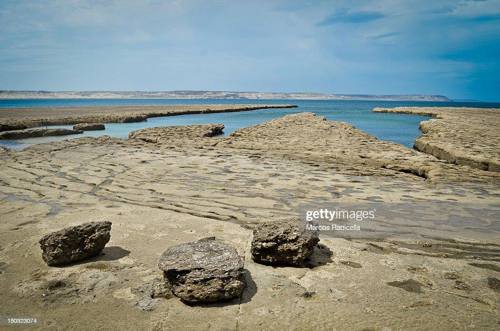 Ocean shore - Patagonia Argentina : Stock Photo