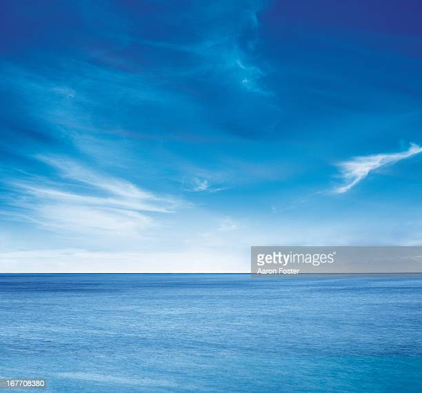ocean skyline 1 - sky stock pictures, royalty-free photos & images