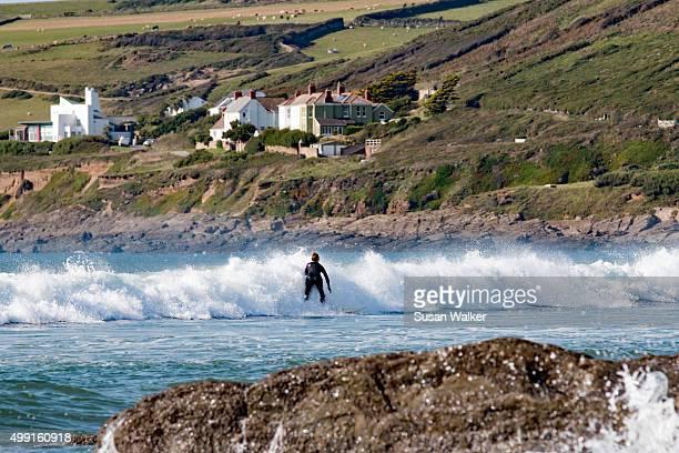 ocean spray - devon stock pictures, royalty-free photos & images
