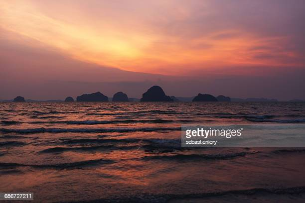 Ocean sunset view, Khao Lak, Phang Nga Province, Thailand