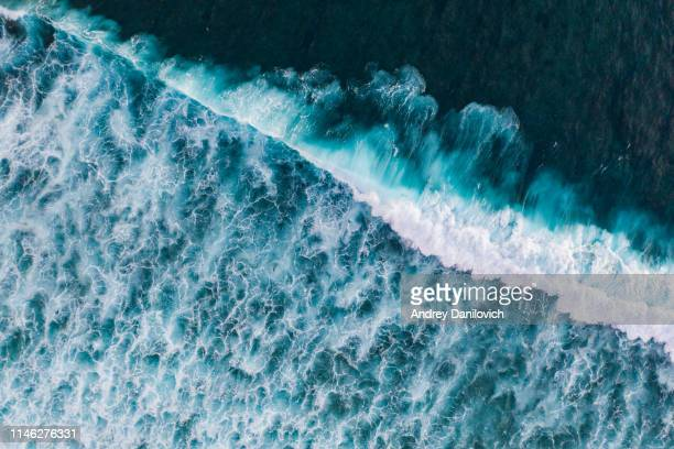 ocean surf from above - wave stock pictures, royalty-free photos & images