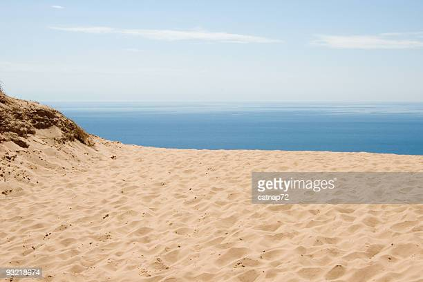 Ocean View from High Sand Dune, Blue Water Horizon