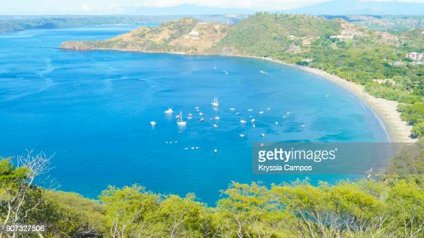 ocean view in costa rica - bay of water stock pictures, royalty-free photos & images