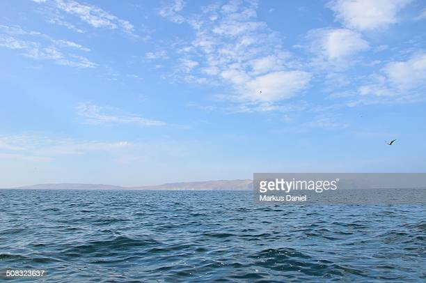 Ocean view of Paracas Desert Peninsula, Peru