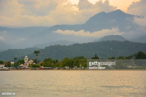 "ocean view of town of paraty, rio de janeiro - ""markus daniel"" stock pictures, royalty-free photos & images"