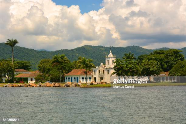 "ocean view of town of paraty, rio de janeiro - ""markus daniel"" stock pictures, royalty-free photos & images"