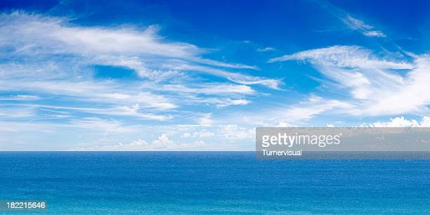ocean view panorama xxxl - clear sky stock pictures, royalty-free photos & images