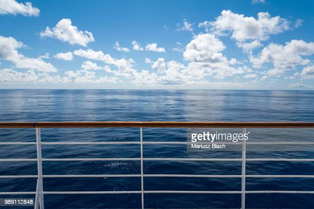 ocean view - railings stock photos and pictures
