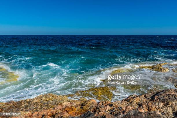 ocean view summer with blue sky - manacor stock pictures, royalty-free photos & images