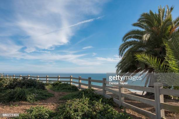 Ocean view with fence