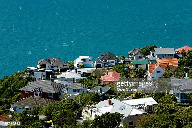 ocean views - wellington new zealand stock pictures, royalty-free photos & images