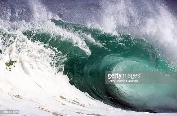 ocean wave at waimea bay. - waimea bay - fotografias e filmes do acervo