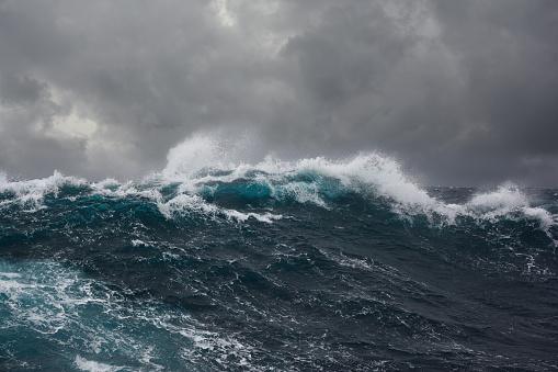ocean wave during storm 486274678