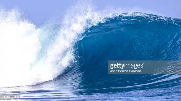 ocean wave in the mentawai islands - wave stock pictures, royalty-free photos & images