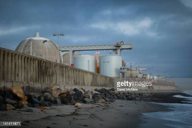 Ocean waves come ashore near the San Onofre Nuclear Generating Station along San Onofre State Beach on March 15 2012 south of San Clemente California...