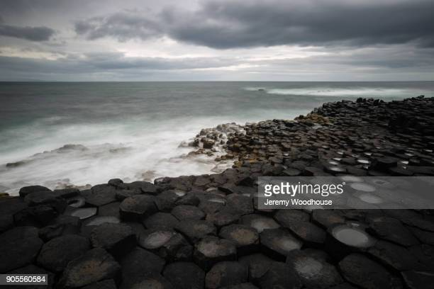 Ocean waves on rocky beach