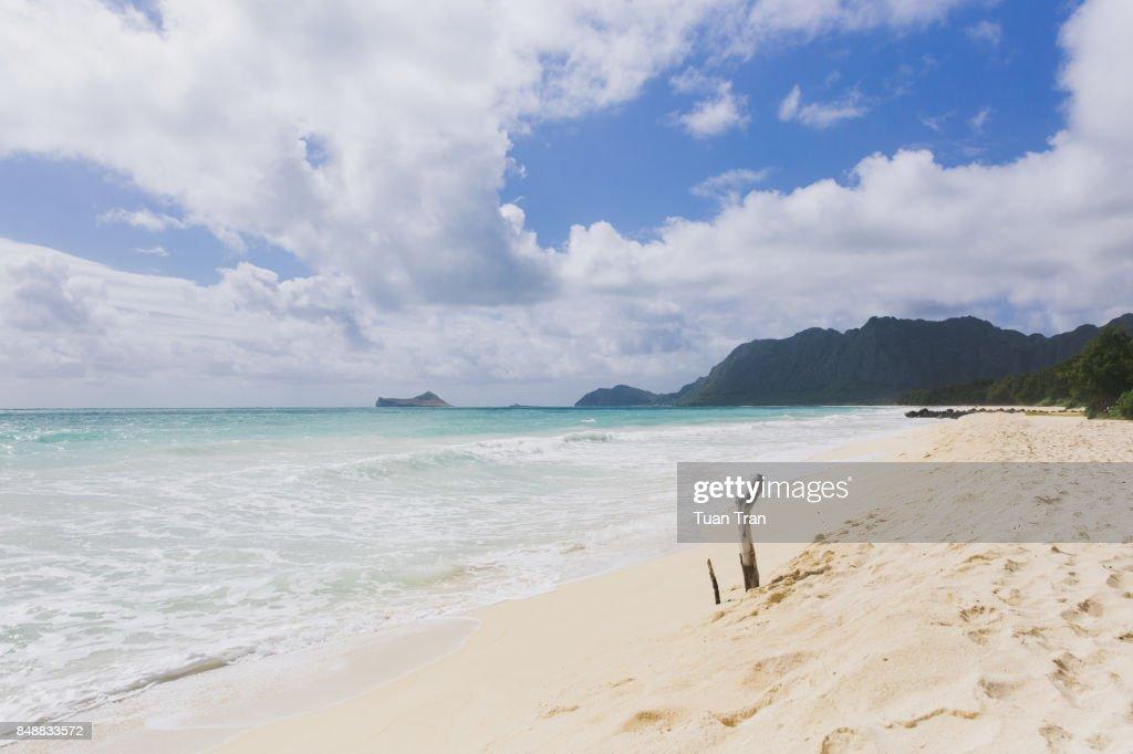 Ocean waves on tropical beach : Stock Photo