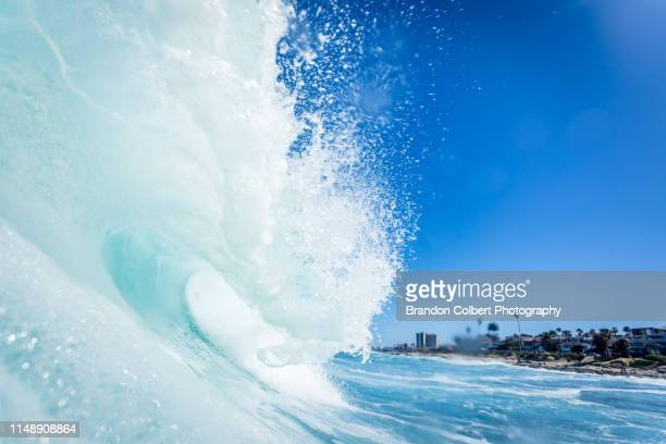 ocean waves - la jolla stock pictures, royalty-free photos & images