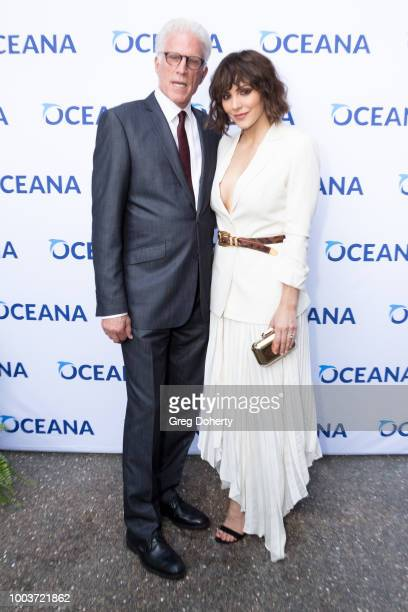Oceana Board Member and Actor Ted Danson and Singer-Siongwriter Katherine McPhee attend the 11th Annual SeaChange Summer Party on July 21, 2018 in...