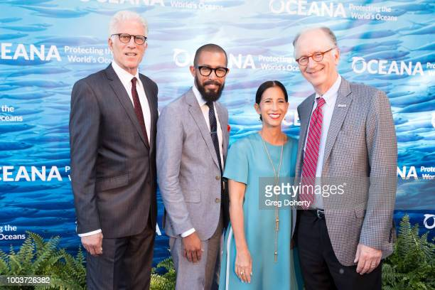 Oceana Board Member and Actor Ted Danson, Brandon Ford, Marcella Cacci and Oceana CEO Andy Sharpless attend the 11th Annual SeaChange Summer Party on...
