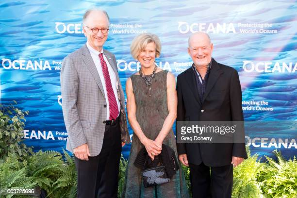 Oceana CEO Andy Sharpless and Greg and Barbara McGillivray attend the 11th Annual SeaChange Summer Party on July 21, 2018 in Laguna Beach, California.