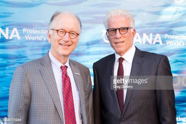 Oceana CEO Andy Sharpless and Oceana Board Member and Actor Ted Danson attend the 11th Annual SeaChange Summer Party on July 21, 2018 in Laguna...