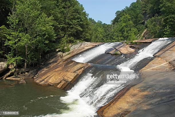 oceana falls, tallulah gorge state park, georgia, usa - georgia estado de eeuu fotografías e imágenes de stock