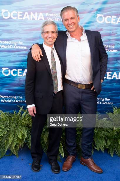 Oceana President Jim Simon and Nicholas Wallace attend the 11th Annual SeaChange Summer Party on July 21, 2018 in Laguna Beach, California.
