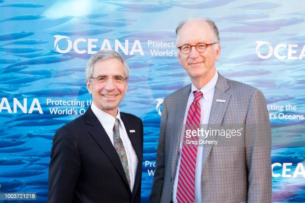 Oceana President Jim Simon and Oceana CEO Andy Sharpless attend the 11th Annual SeaChange Summer Party on July 21, 2018 in Laguna Beach, California.