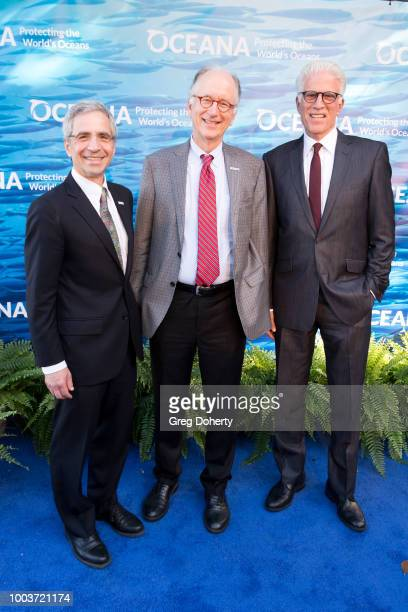 Oceana President Jim Simon, Oceana CEO Andy Sharpless and Oceana Board Member and Actor Ted Danson attend the 11th Annual SeaChange Summer Party on...