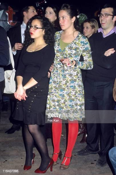 Oceane and Olympia LeTan during Marie Amelie Seigner's Concert at The Cointreaupolitan Party December 13 2005 at Club Paris ParisClub Paris Paris 15...