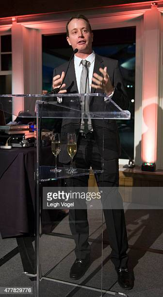 Oceania Cruises president Jason Montague speaks during Jacques Pepin's 80th birthday celebration during The Aspen Food Wine Classic on June 19 2015...