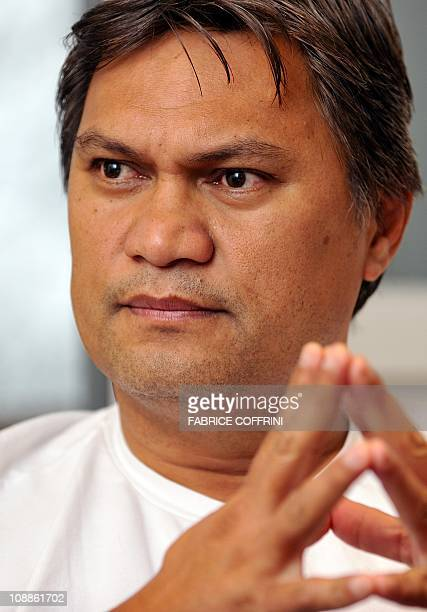 Oceanian football chief and FIFA vice president Reynald gestures during an interview with AFP on November 18 2010 in Zurich FIFA suspended two...