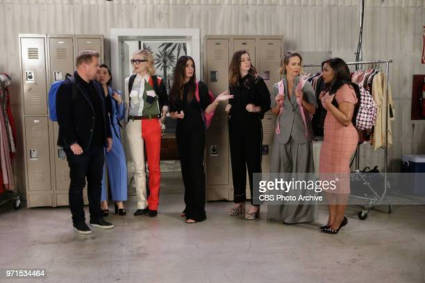 Ocean's 8 Sandra Bullock Anne Hathaway Cate Blanchett Mindy Kaling Sarah Paulson and Awkwafina have an emotional goodbye at the end of their press...