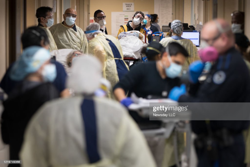 Busy Emergency Department at Mount Sinai South Nassau Hospital in Oceanside, New York : News Photo